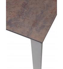 Стол CORNER 120 Glazed Glass Copper+Grey1