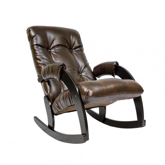 Кресло качалка МИ Модель 67, Венге, к/з Antik crocodile