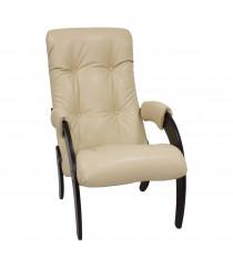 Кресло для отдыха МИ Модель 61, Венге, к/з Polaris Beige