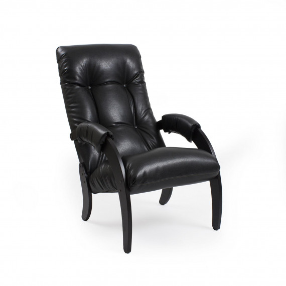 Кресло для отдыха МИ Модель 61, Венге, к/з Vegas Lite Black