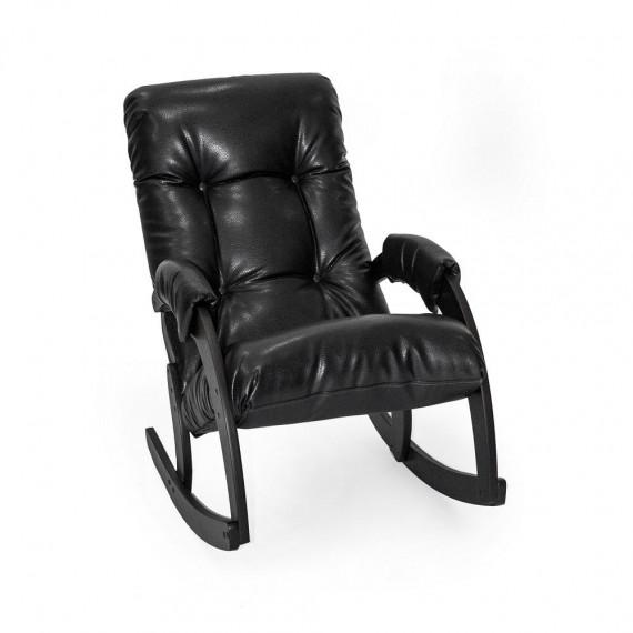 Кресло качалка МИ Модель 67, Венге, к/з Vegas Lite Black