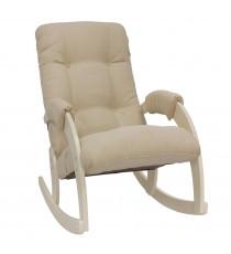 Кресло качалка МИ Модель 67, Дуб шампань, ткань Verona Vanilla
