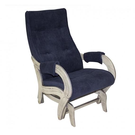 Кресло глайдер МИ Модель 708, Дуб шампань патина, ткань Verona Denim Blue
