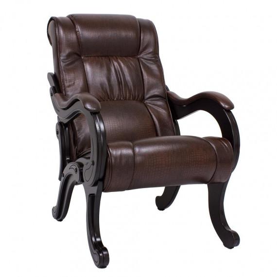 Кресло для отдыха МИ Модель 71 венге, Венге, к/з Antik crocodile
