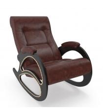 Кресло качалка МИ Модель 4 венге, Венге, к/з Antik Crocodile