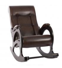 Кресло качалка МИ Модель 44 венге б/л, Венге б/л, к/з Antik crocodile