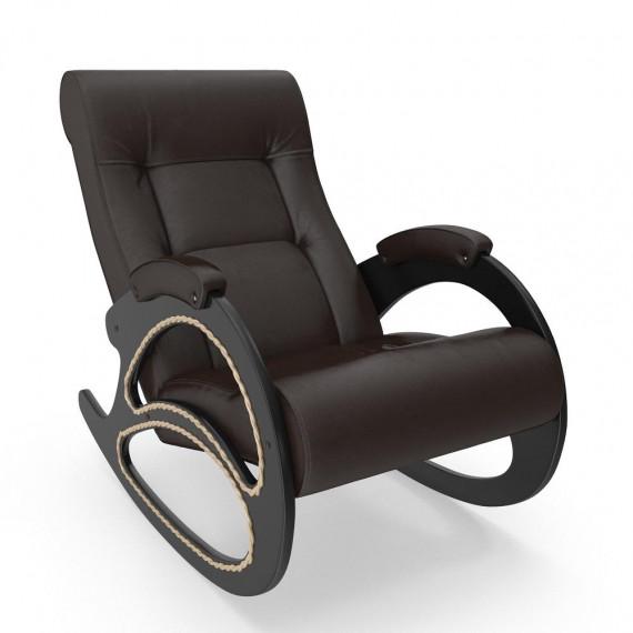 Кресло качалка МИ Модель 4 венге, Венге, к/з Oregon perlamutr 120