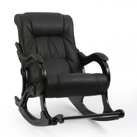 Кресло качалка МИ Модель 77 венге, Венге, к/з Dundi 108
