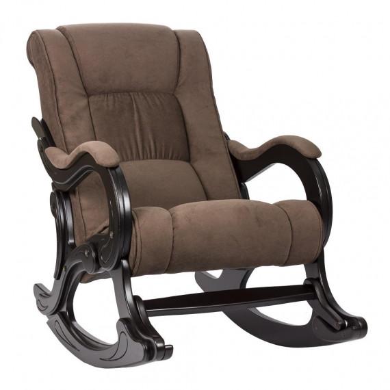 Кресло качалка МИ Модель 77 венге, Венге, ткань Verona Brown