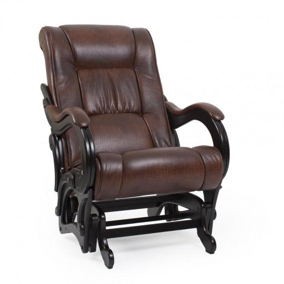 Кресло глайдер МИ Модель 78 венге, Венге, к-з Antik crocodile