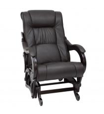 Кресло глайдер МИ Модель 78 венге, Венге, к/з Dundi 108