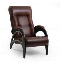 Кресло для отдыха МИ Модель 41 венге, Венге, к/з Antik crocodile