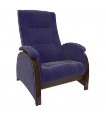 Кресло глайдер МИ Модель Balance 2 , Орех/шпон, ткань Verona Denim Blue
