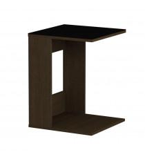 Стол журнальный LS 731, 02.01 (корпус-венге,стекло-черный)