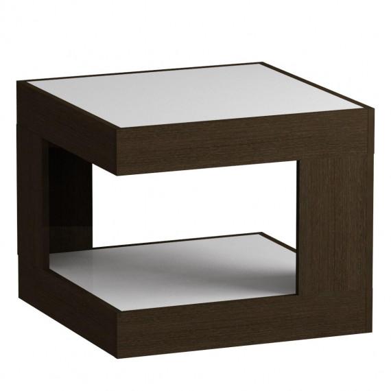 Стол журнальный LS 746, 02.11 (корпус-венге,стекло-белый)