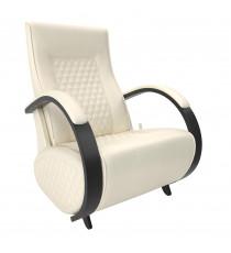 Кресло глайдер МИ Модель Balance 3 с накладками, Венге/шпон, к/з Dundi 112