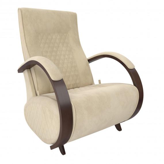 Кресло глайдер МИ Модель Balance 3 с накладками, Орех/шпон, ткань Verona Vanilla
