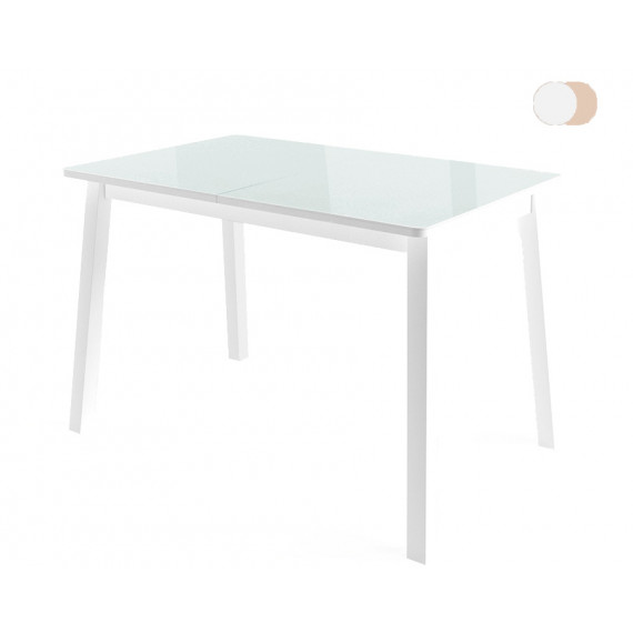 Стол ТИРК белый со стеклом