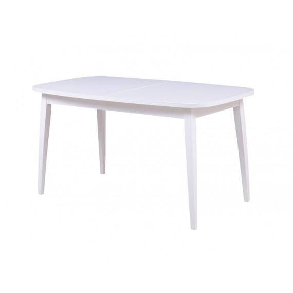 Стол Турин  (массив дерева) белый-белый