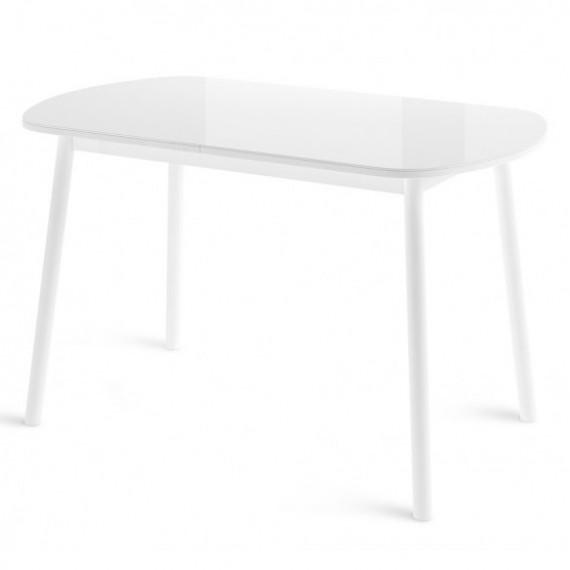 Стол РАУНД 70x120 белый со стеклом
