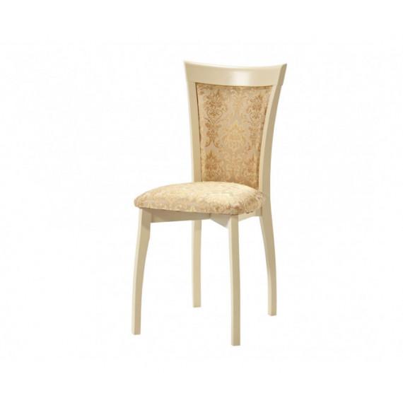 Стул Тулон-2 (Слоновая кость) деревянный с мягким сиденьем