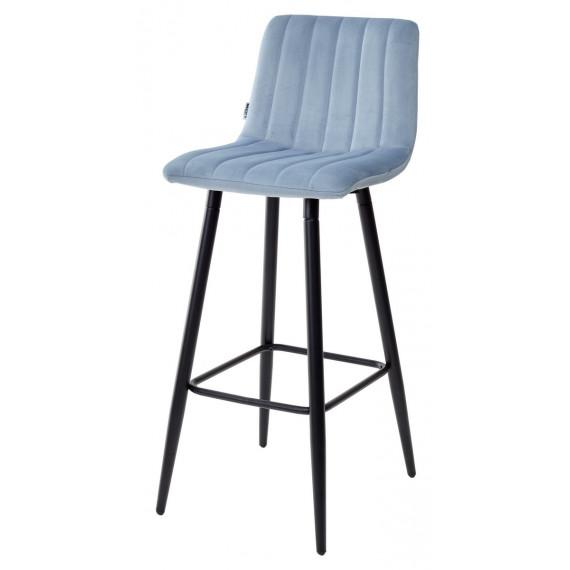 Барный стул DERRY G108-56 пудровый синий, велюр