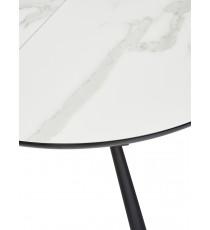 "Стол VOLAND BIANCO TL-45 испанская керамика/ BLACK ""белый мрамор"""