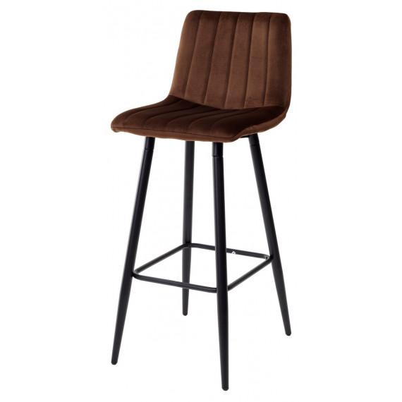 Барный стул DERRY G062-10 шоколадный, велюр