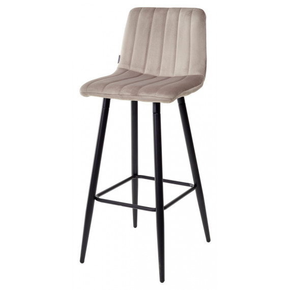 Барный стул DERRY G062-13 кварцевый, велюр