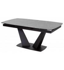 Стол ACUTO2 170 BLACK MARBLE Черный мрамор матовый, керамика/ черный каркас NEW!