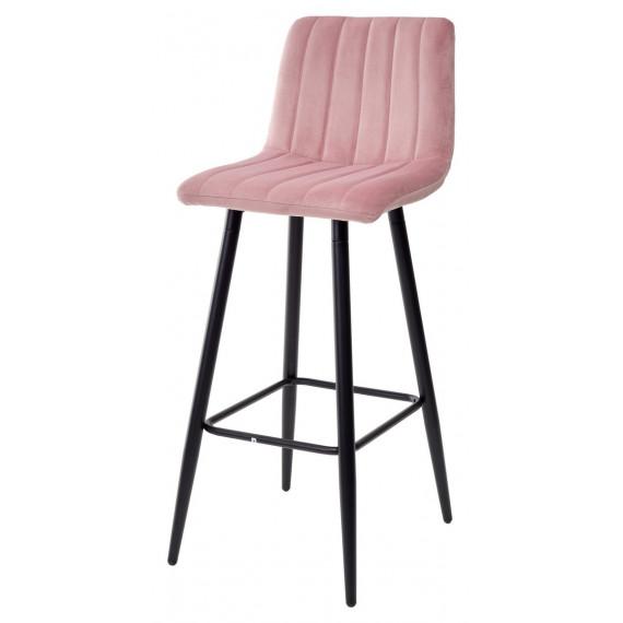 Барный стул DERRY G108-15 пепел розы, велюр