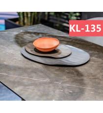 Стол ALEZIO 160 KL-135 Темно-коричневый мрамор матовый, итальянская керамика/ BLACK