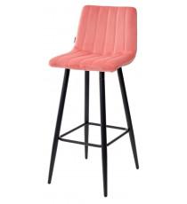 Барный стул DERRY G108-17 живой коралл, велюр