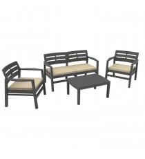 Набор мебели из пластика Java, JAV04CCA, с подушками