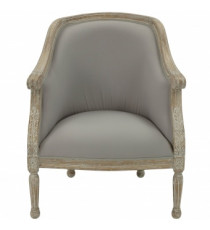 Кресло Fauteuil Chantilly Oval MK-3304-CE Белый/Бежевый