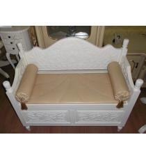 Скамья с ящиком и подушками PSB 02 MK-2487-IV Слоновая кость