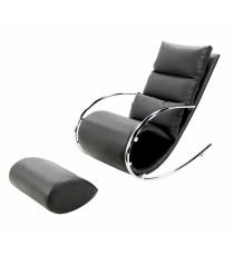 Кресло качалка c пуфом S001 MK-5503-BL Черный