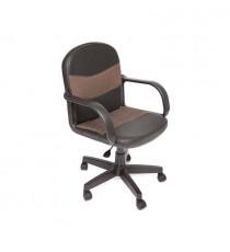 Кресло компьютерное BAGGI (иск. кожа-ткань, черный-бежевый)