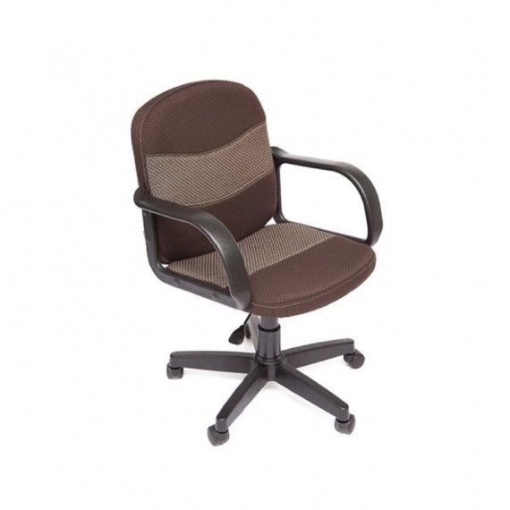 Кресло компьютерное BAGGI (ткань, коричневый-бежевый)