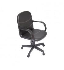 Кресло Компьютерное BAGGI (иск. кожа, черный)