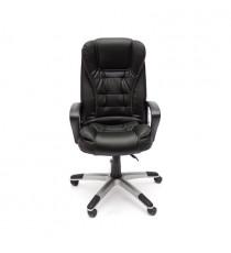 Кресло офисное BARON (иск. кожа, черный - черный перфорированный)