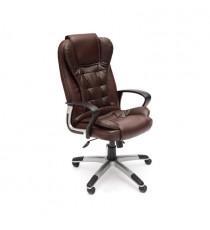 Кресло офисное BARON (Искусств. корич. кожа + искусств. корич. перфор. кожа)
