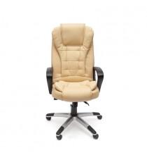 Кресло офисное BARON (иск. кожа, бежевый перфорированный)