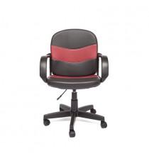 Кресло компьютерное BAGGI (иск. кожа, черный/бордо)
