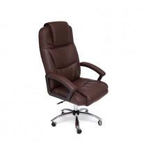 Кресло BERGAMO (хром иск. кожа, коричневый)