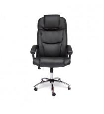 Кресло BERGAMO (хром иск. кожа, черный)