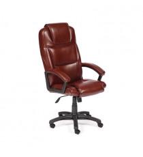 Кресло офисное BERGAMO (иск. кожа, коричневый 2 TONE)