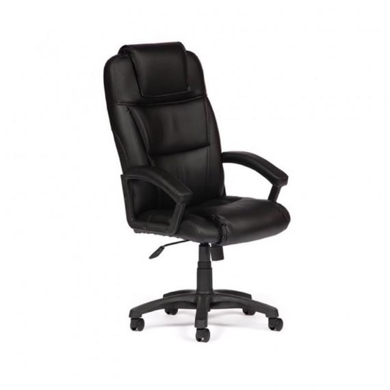Кресло офисное BERGAMO (иск. кожа, черный)