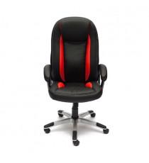 Кресло компьютерное BRINDISI (иск. кожа, черный-красный)