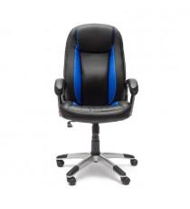 Кресло компьютерное BRINDISI (иск. кожа, черный-синий)